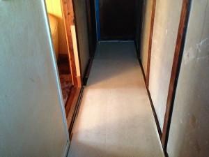 廊下の掃除後