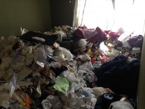 アパートの大量ゴミ2