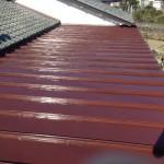 屋根を塗装した後