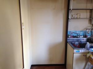 大型冷蔵庫の搬出後