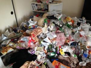 大量ゴミ片付け前1