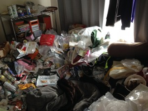 大量ゴミ片付け前2