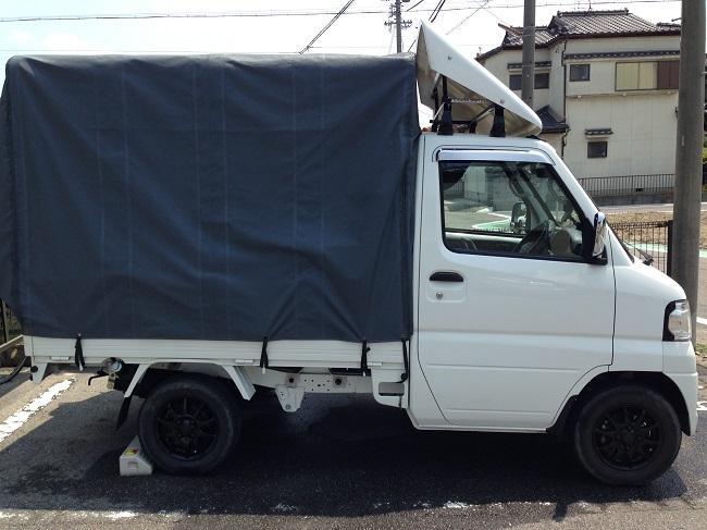 雨の日も安心の運送用トラックです。
