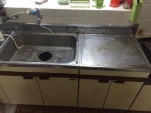 キッチン(シンク)の掃除前