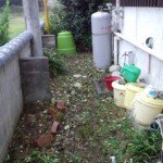 家の裏の雑草処理後