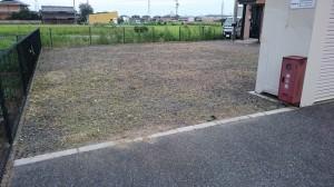 アパートの除草作業後1